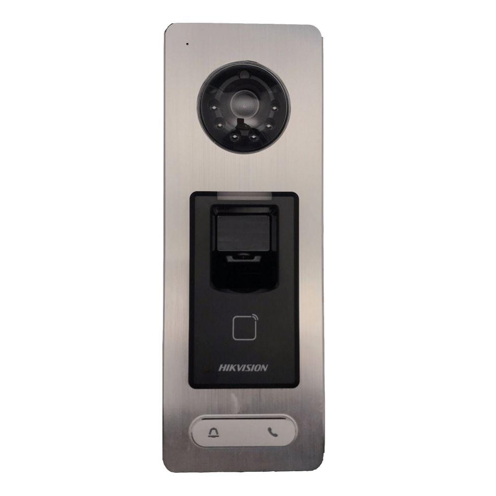 Hikvision DS-K1T501SF Fingerprint access controller, rufen sie zu innen monitor, Hik-verbinden, tür telefon, video intercom, IP Türklingel