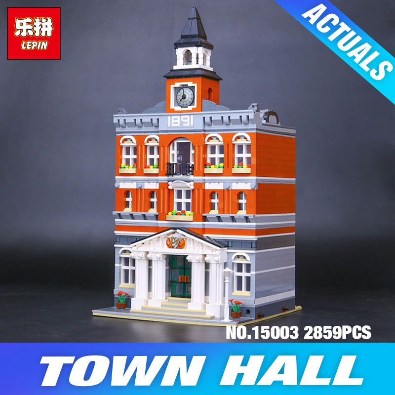 DHL Lepin 15003 Creatored Modular Houses town hall 10224 Toys Model Building Blocks Bricks Educational Children Christmas Gifts