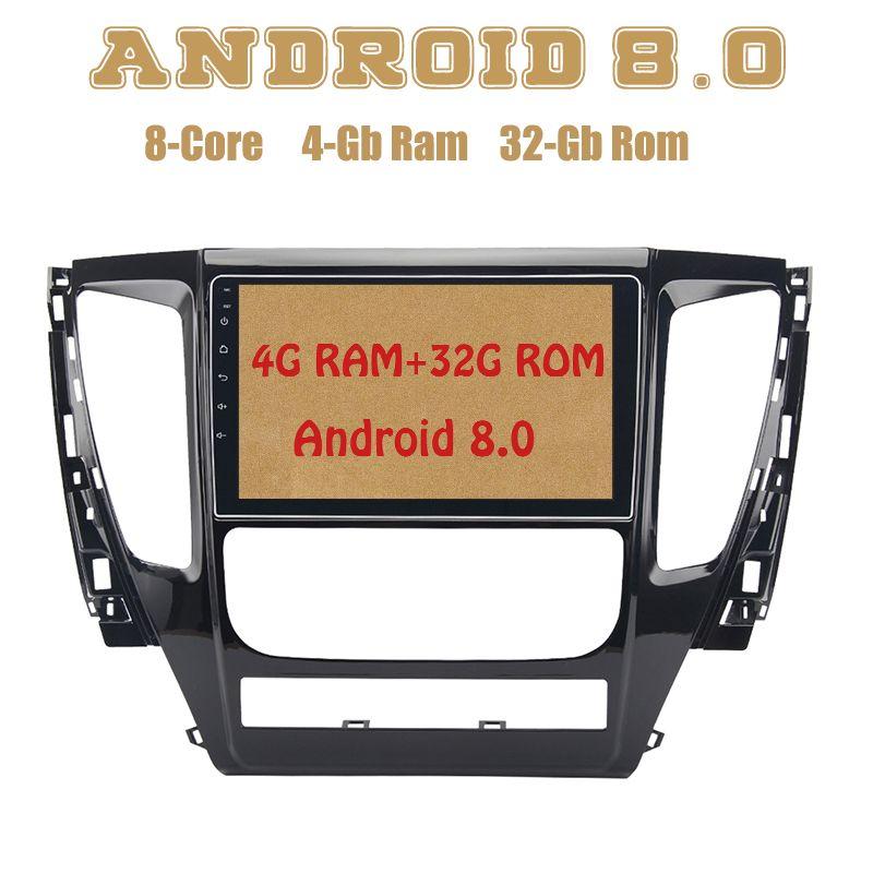 Octa core PX5 Android 8.0 auto radio gps für mitsubishi pajero sport 2017 mit 4g RAM 32g ROM wifi 4g usb Auto Stereo Multimed