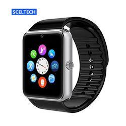 SCELTECH S08 Montre Smart Watch Horloge Avec Facebook Whatsapp Twitter Sync notifiant soutien SIM TF Carte Pour iPhone Android Téléphone PK A1