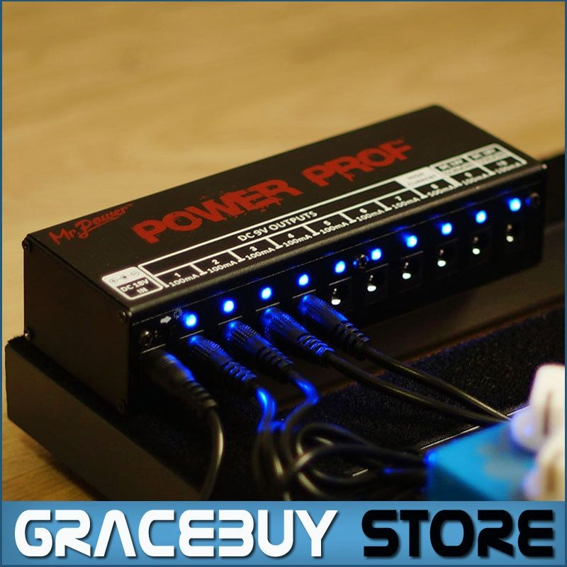 Guitar Effect Pedals Board Power Supply 10 Isolated Outputs (8 Way DC 9V & 1 Way DC 12V & 1 Way 18V) Voltage Protection New