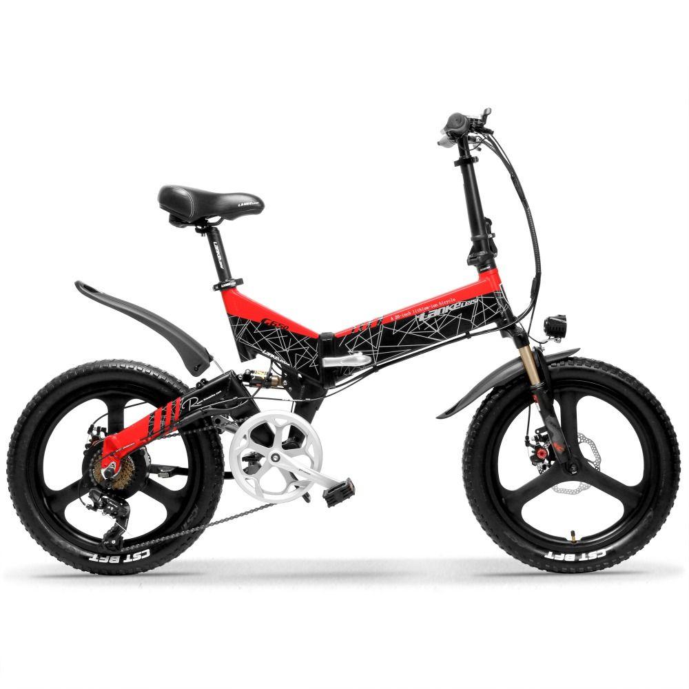 G650 20 Zoll Klapp Elektrische Fahrrad 400W Motor 10.4Ah/14.5Ah Li-Ion Batterie 5 Ebene Pedal Unterstützen Full Suspension mountainbike