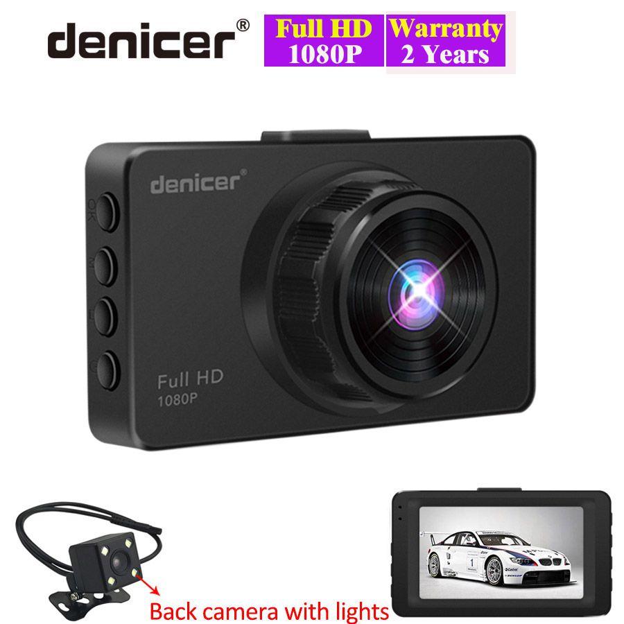 3.0 caméra de voiture Full HD 1080 P Vidéo enregistreur de conduite qualité supérieure Noir dvr de voiture Double Lentille avec vision nocturne G-capteur 2 caméras