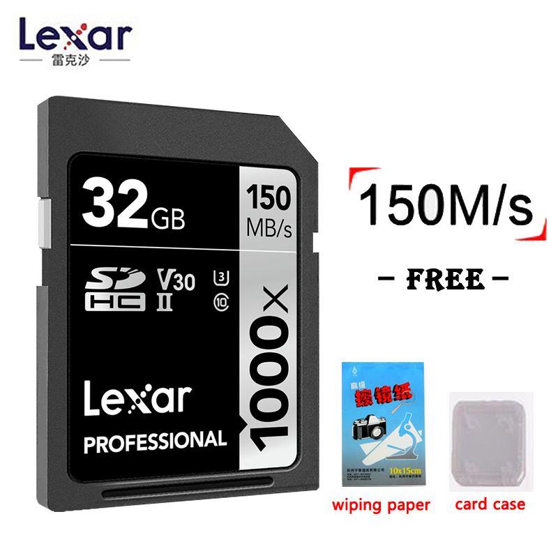 Lexar Original 1000x150 mb/s Mémoire Flash sd cartes 32 gb 16 gb 128 gb haute vitesse 64 gb 256 gb SDHC/XC UHS-II U3 Carte Pour 3D 4 k