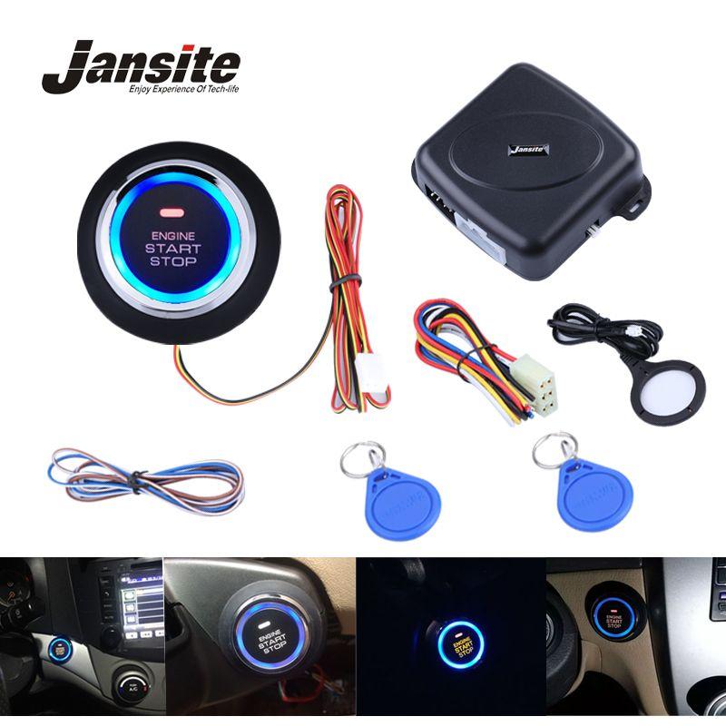 Jansite Smart Car Engine Push Start Stop Button RFID Lock Ignition Keyless Entry System Auto Start Stop Immobilizer Starline