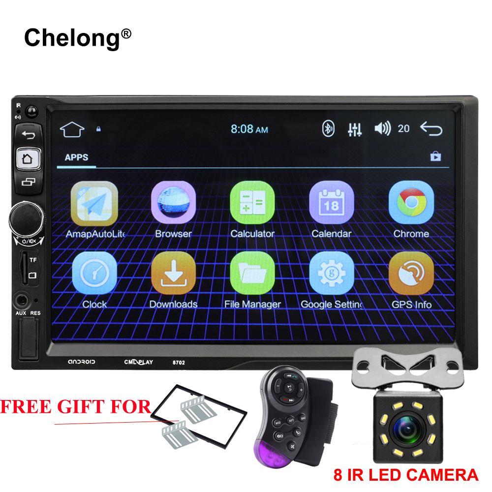 2 Din Multimedia Player Android 7.1 Car radio 1024*600 Universal GPS Navigation Bluetooth FM WiFi 7