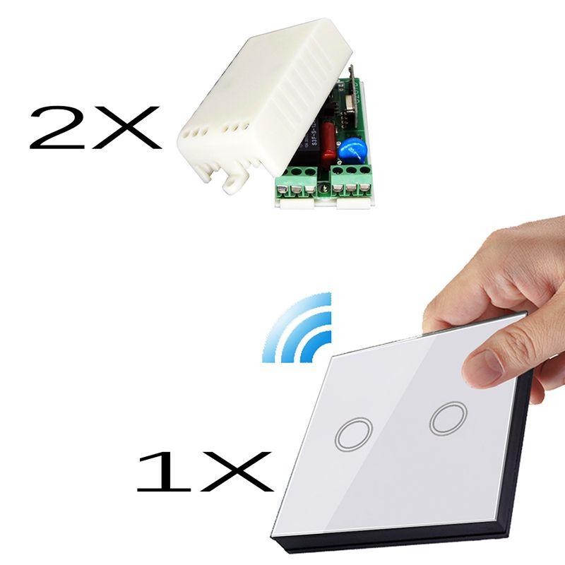 VHOME Smart Home EU 1-3Gang Touch Switch Shape Remote Control+220V Receiver for Ceiling Lights Garage Door Household appliances