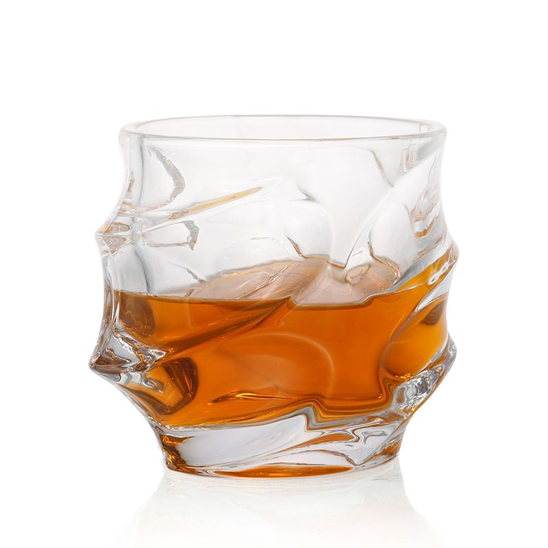 1Pcs 350ML Big Capacity Crystal Glass Whiskey Cup For Drinking Vodka Wine Beer Cocktail Rhum M M's Party Glasses Blunt Glass