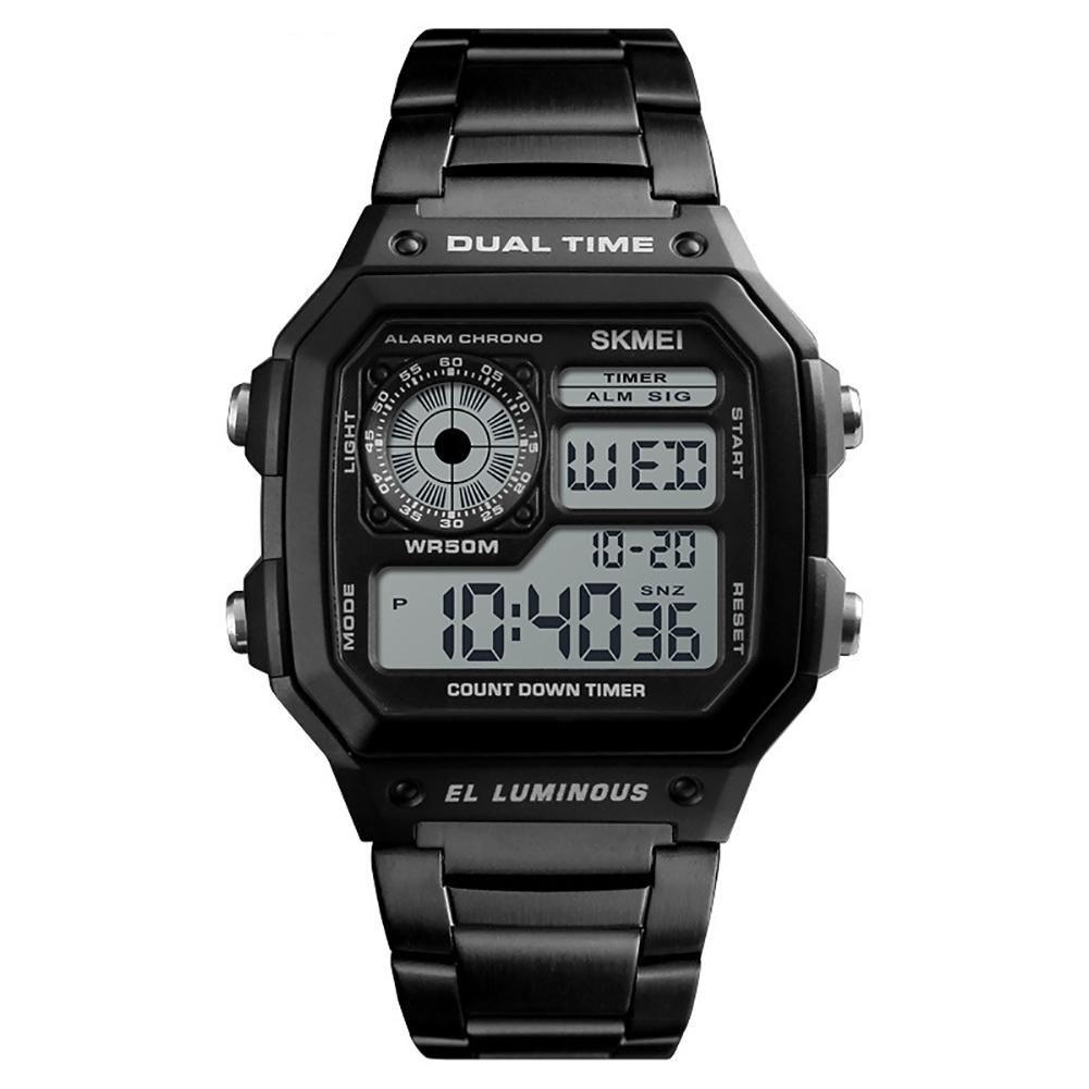 Sanwood Fashion Men Digital Display Square Dial Waterproof Business Office Wrist Watch Men's relogio digital