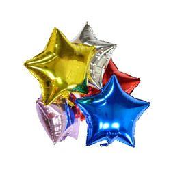 Воздушные шары из фольги, Звездные шары, вечерние воздушные гелиевые шары с новогодним днем, подарок на Рождество, день рождения, 5 шт.