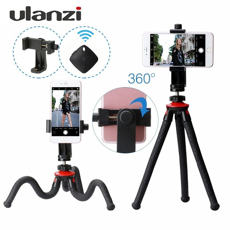 Ulanzi UFO Tripod Octopus For Phone Flexibe Stand Bluetooth Hoder Travel Tripod Mount Selfie Stick For Smartphone DSLR Cameras