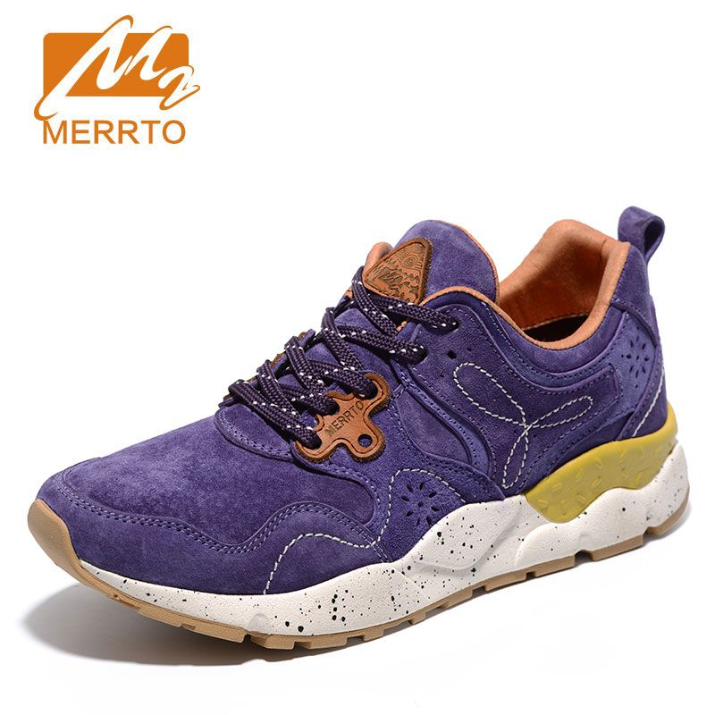 MERRTO Skidproof Woman Walking Shoes Breathable Genuine Leather Sneakers Athletic Outdoor Footwear Cushioning Sports Shoes