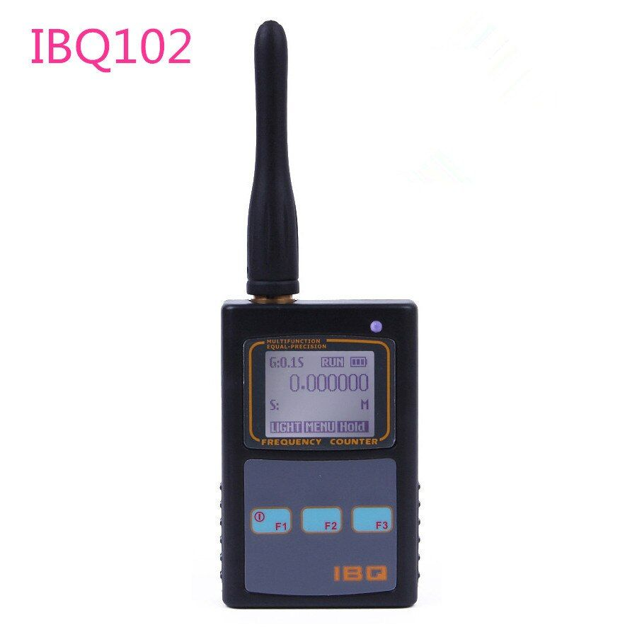 Frequency Counter RF Meter IBQ102 Wide Range 10Hz-2.6GHz for Baofeng Yaesu Kenwood Radio Portable Handheld Multifunction Counter