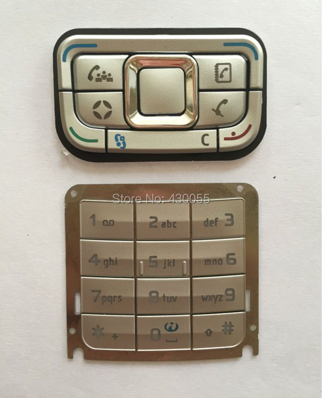 White New Ymitn housing cover mobile phone keypads,keyboards,buttons for Nokia E65,Free shipping
