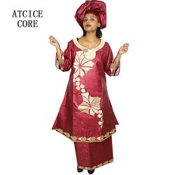 african dresses for women FREE SHIPPING NEW FASHION DESIGN AFRICAN BAZIN RICHE EMBROIDERY LONG RAPPER african clothes SP18#