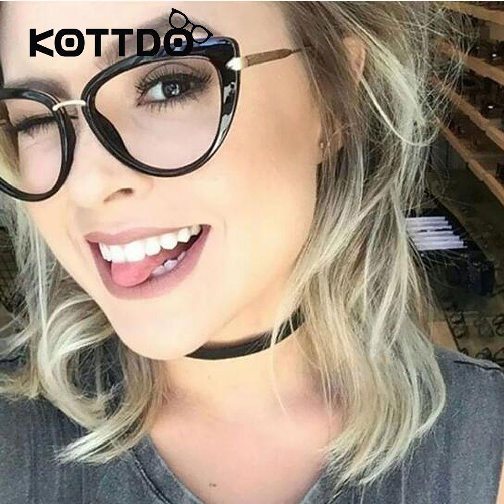 2017 mode Neue Frauen Brillen Rahmen Klassische Marke Designer Luxus Metallrahmen Frauen Cat Eye Brillen Trendy Lunettes Vintage