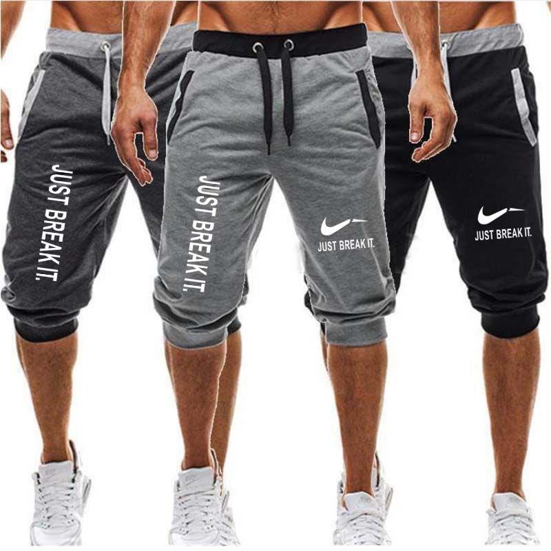 Tout nouveau short de sport pour hommes courir jogging sport Fitness bodybuilding pantalons de survêtement homme entraînement marque genou longueur pantalon court