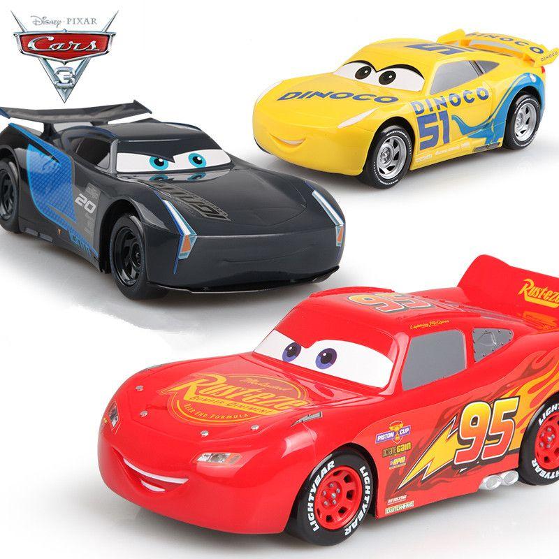 Disney Nuevos Coches 3 de Pixar 22 cm Plastic Emulational Modelo Juguetes Tirón Carros de nuevo Coche McQueen Tormenta Jackson Cruz Coches Regalos para Los Niños