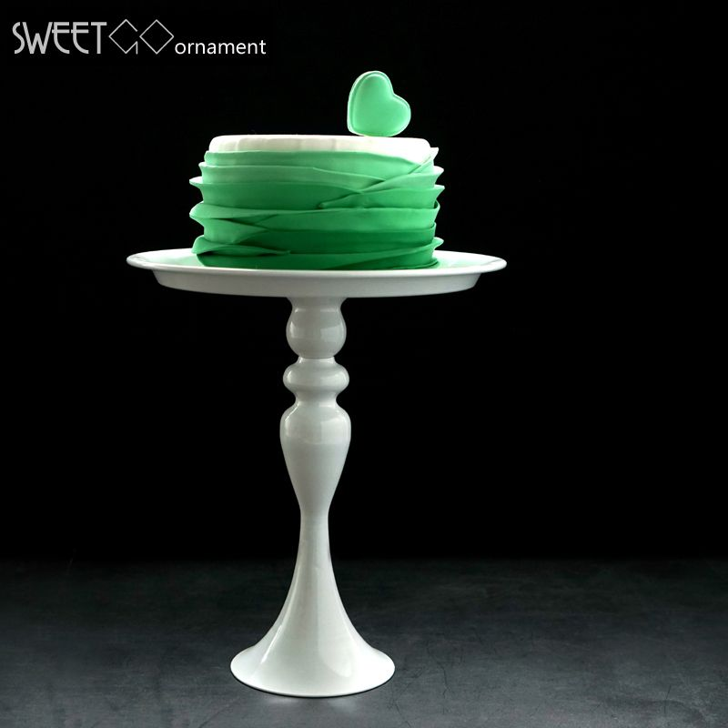 White cake stand high feet metal iron 8 inch cake tool for cake decoration for wedding party bakeware dinner &bar