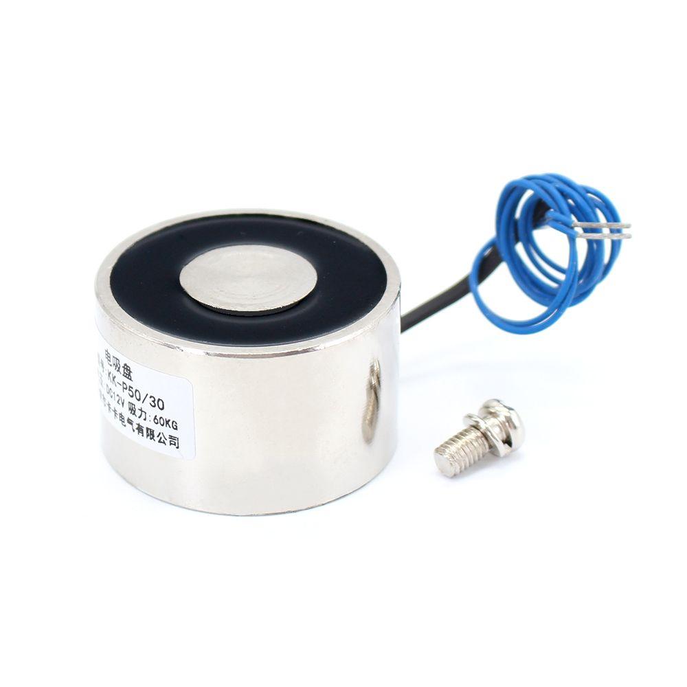 50*30mm Suction 60KG 600N DC 5V/12V/24V Mini solenoid electromagnet electric Lifting electro magnet strong holder cup DIY 12 v