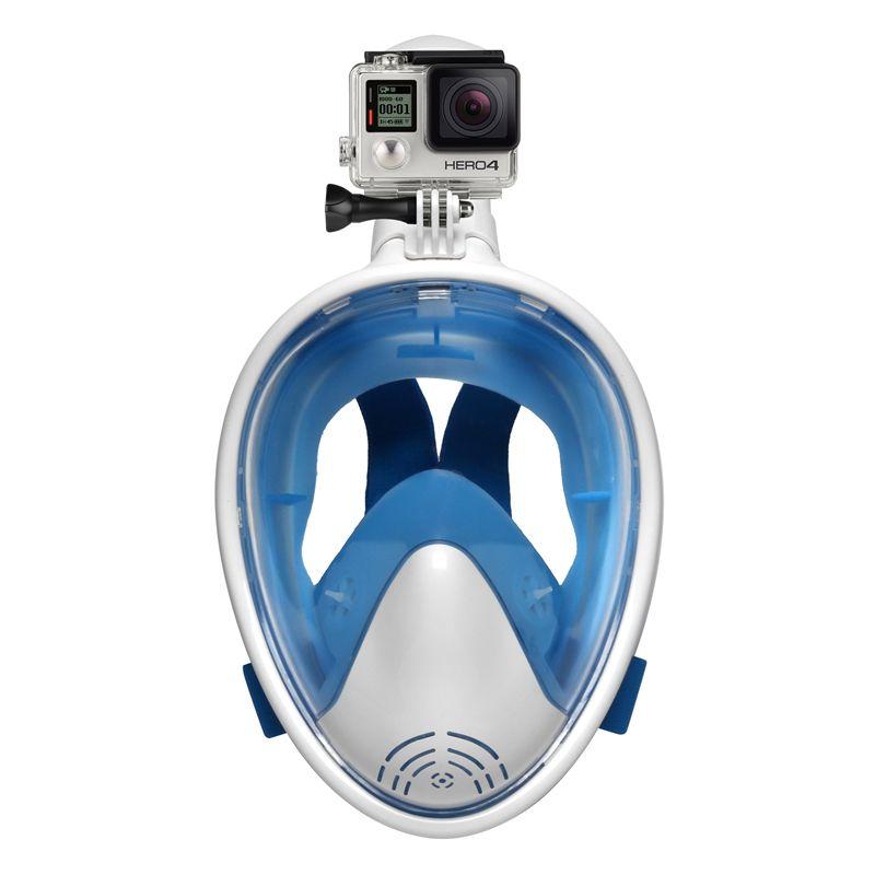 Full Face Diving Mask <font><b>Underwater</b></font> Anti Fog Scuba Snorkeling Mask Swimming with Anti-skid Ring Earplug for Gopro Camera Swimmer