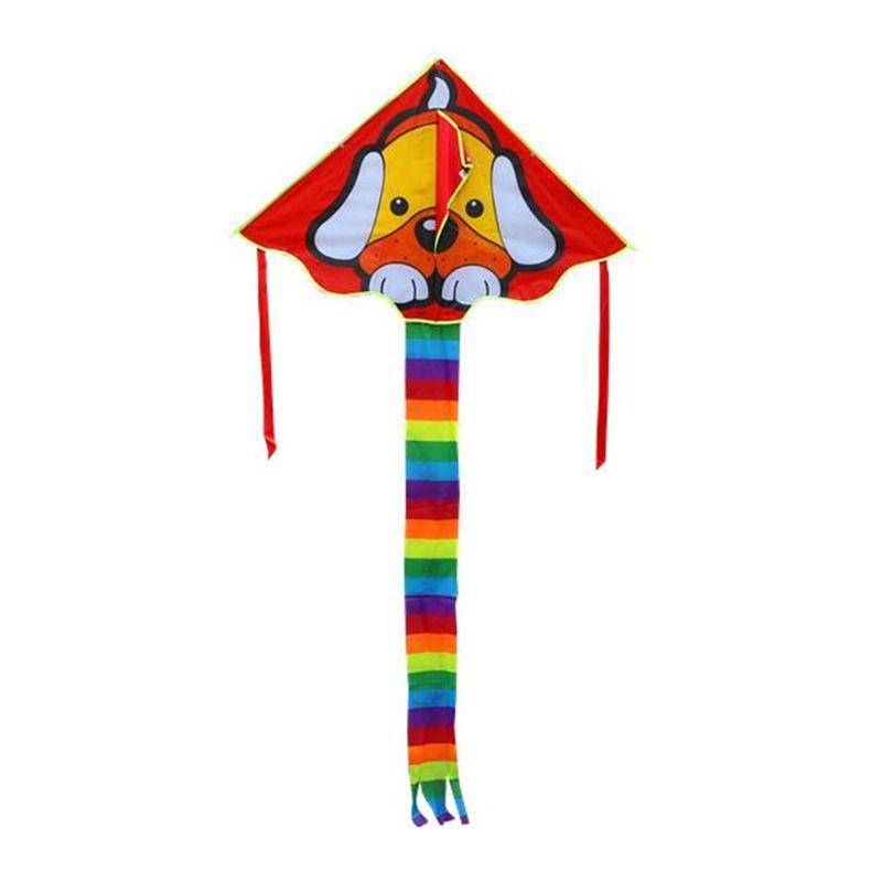 Livraison gratuite enfants cerfs-volants beau chien cerf-volant contrôle facile volant plus haut nylon ripstop avec poignée ligne jouets de plein air pieuvre