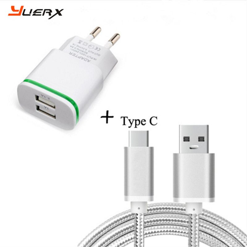 US / EU AC Plug Travel Charger,USB Charger Cable for Letv LeEco Le Pro 3/Le S3 , Max Pro /Le2 X520 Type C Data Sync Charge Cable