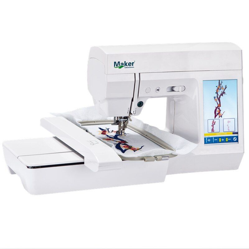 MK7300 portable domestic computerized small electric embroidery machine AC100-240V 7