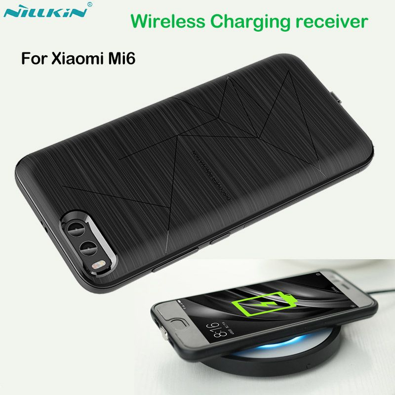 Nillkin QI Wireless Charging Receiver Case for Xiaomi Mi 6 Case Back Cover Compatible with Magnetic Holder for Xiaomi Mi6 Cover