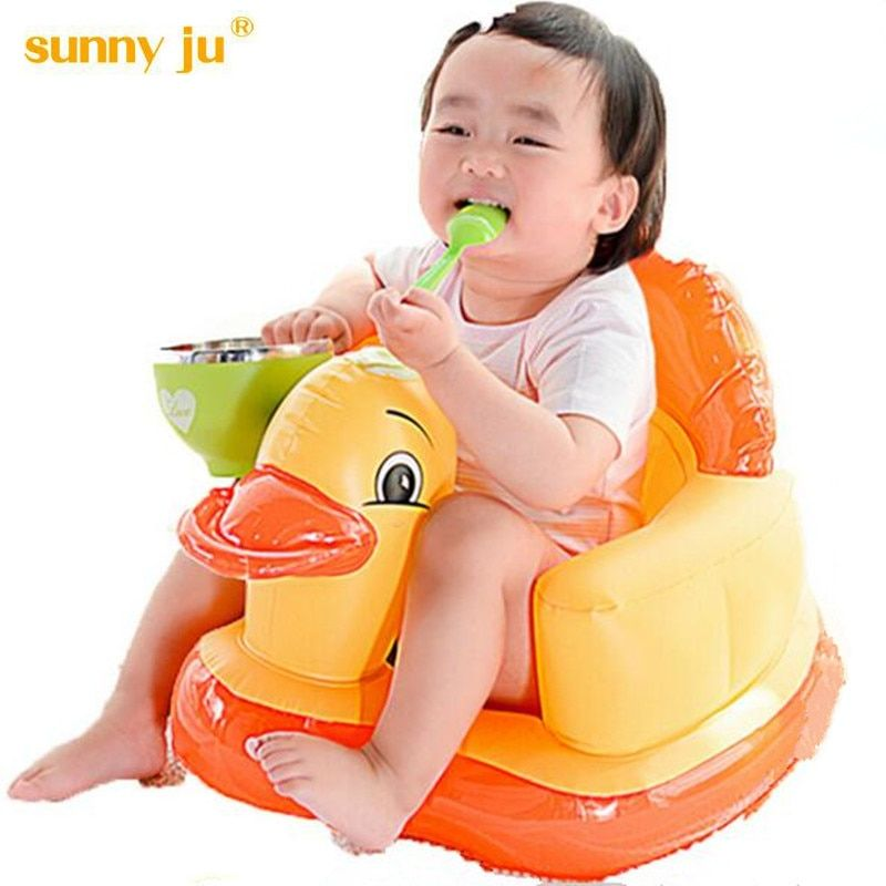 Sunny ju Baby Inflatable Chair Children's Feeding Portable Folding Sofa Infant Game Puff Dining Bath Chair Plastic Sofa Stools