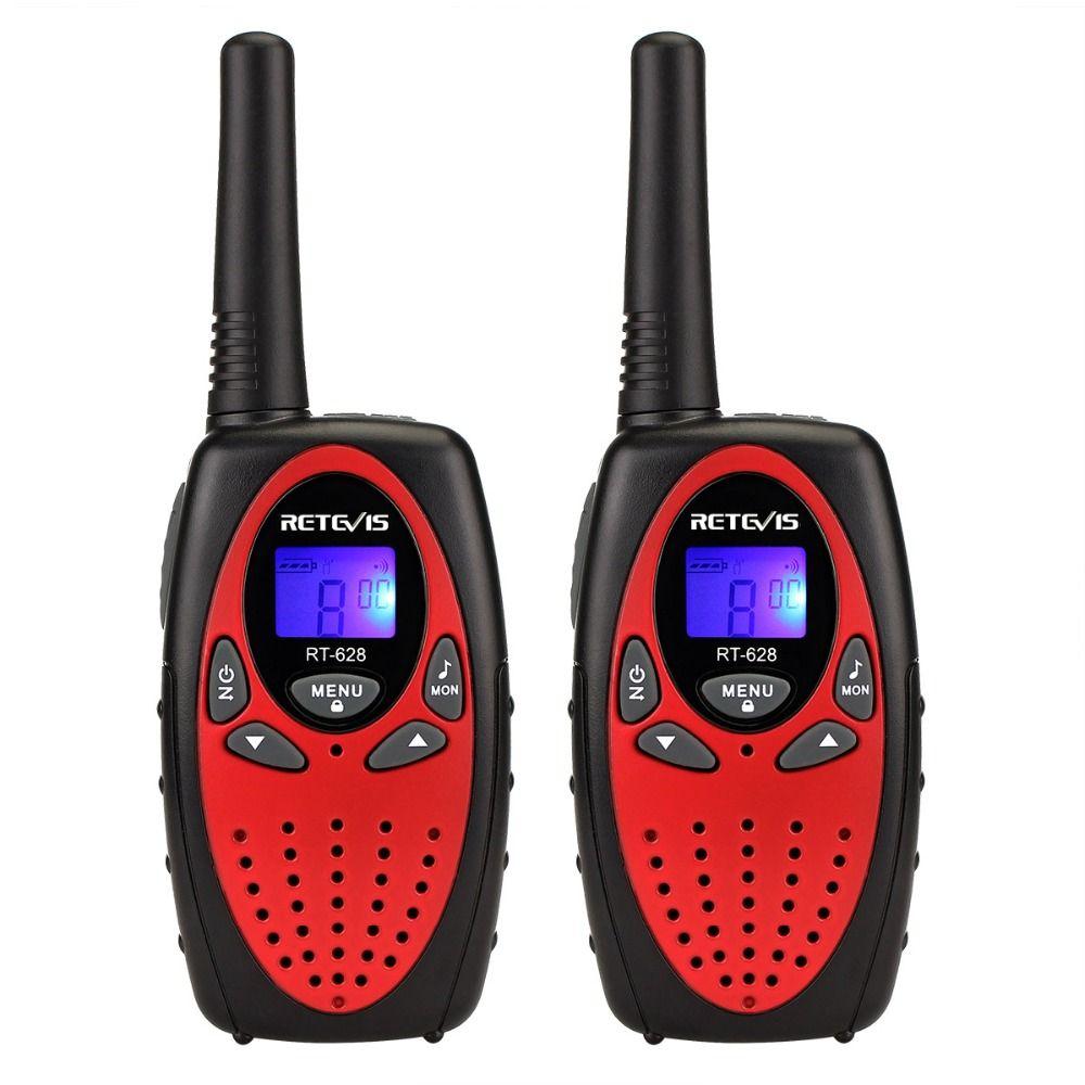 2 pcs Mini Two Way Radio Talkie-walkie Pour Enfants Retevis RT628 PMR446 Radio PMR/FRS GMRS Portable amateur Radios Jouet Talkie Walkie