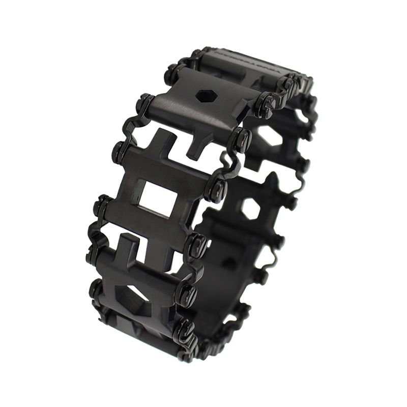 29in1 Stainless Steel Multifunction Bracelet Wristband Screwdriver Bottle Opener Outdoor Survival Emergency Kit Multi Tool