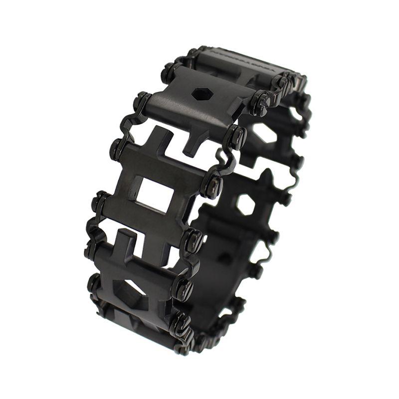 29in1 Stainless Steel Multifunction <font><b>Bracelet</b></font> Wristband Screwdriver Bottle Opener Outdoor Survival Emergency Kit Multi Tool