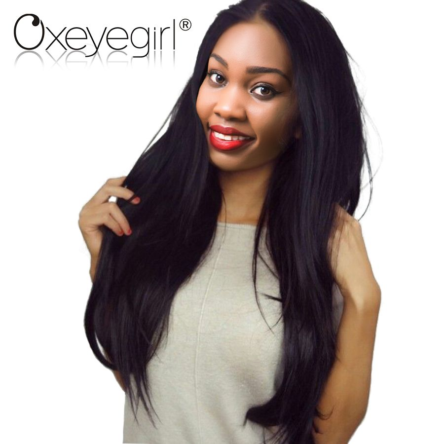 Brazilian Straight Hair Wigs For Women Glueless Full Lace Human Hair Wigs With Baby Hair Non Remy Hair Natural Black Oxeye girl