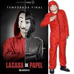 La Casa De Papel Cosplay Costume Visage Masque Salvador Dali Cosplay Film Masque Parti Réaliste Masque Performance vêtements