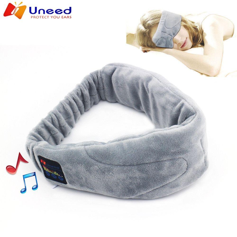 Sans fil Stéréo Bluetooth Écouteur Sommeil Masque Téléphone Bandeau Sommeil Doux Écouteurs pour Dormir Masque Pour Les Yeux Musique Casque