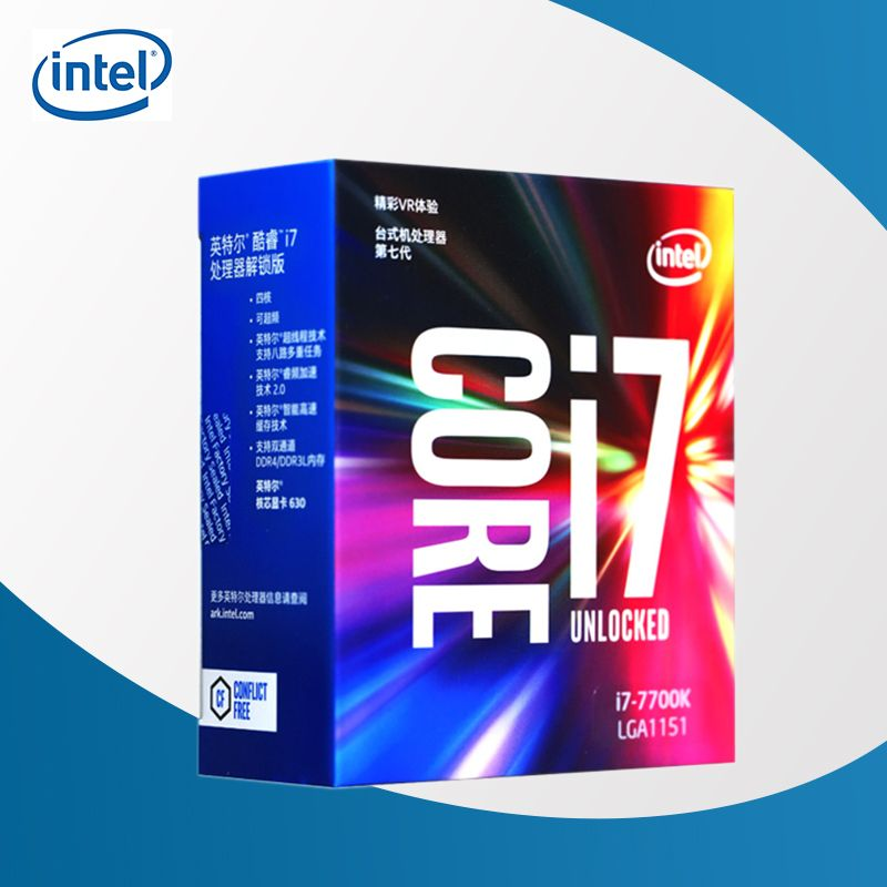 Intel 7th Gen Intel Core Desktop Processor intel core i7-7700K 7700K Quad-core 8 threads 4.2G 91W LGA 1151