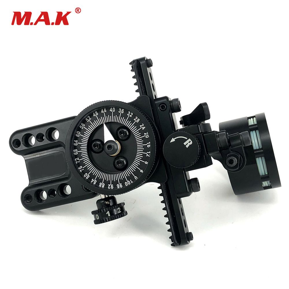 New Compound Bow Single Needle Sight Aluminum Adjustable Pointer HRD Technology for Archery Hunting Shooting