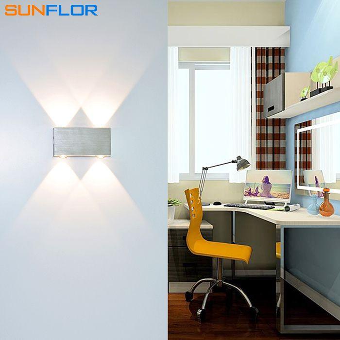 Heißer Verkauf 2 Watt 3 Watt 4 Watt FÜHRTE Leuchte Oberfläche Montiert LED Wandleuchte Sliver Quadratische Moderne Wandleuchte Kalt/Warm Weiß/gelb