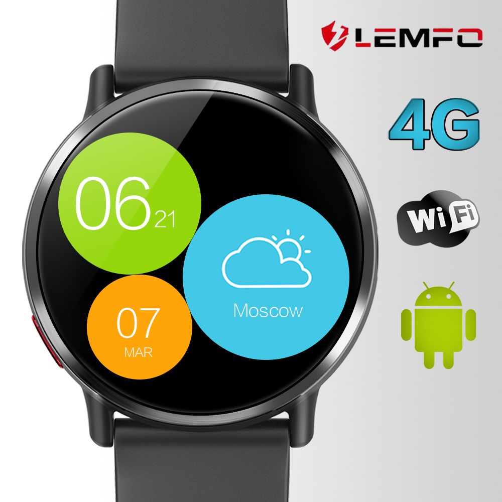 LEMFO LEM X Android 7.1 4G 2.03 Inch 900Mah 8MP Camera Waterproof Luxury Smart Watch Sport GPS Watch Smartwatch For Men