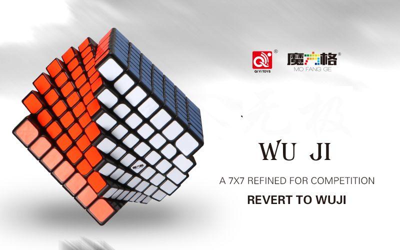 Qiyi Mofangge Wuji 7 Schichten Cube Stickerless oder Schwarz Aufkleber 7x7x7 Verfeinert Für Wettbewerb Cube Puzzle spielzeug Für Kinder Kinder