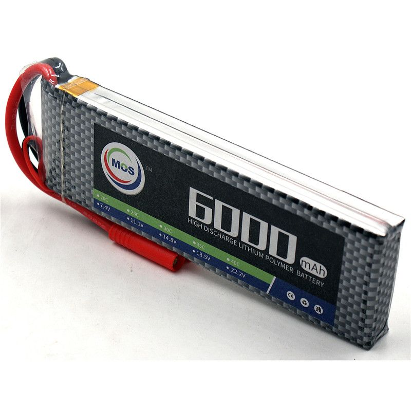 MOS 2S RC LiPo Battery 7.4V 6000mAh 30C-60C 2S Batteries For RC Helicopter Car Boat Quadcopter Li-Polymer batteria