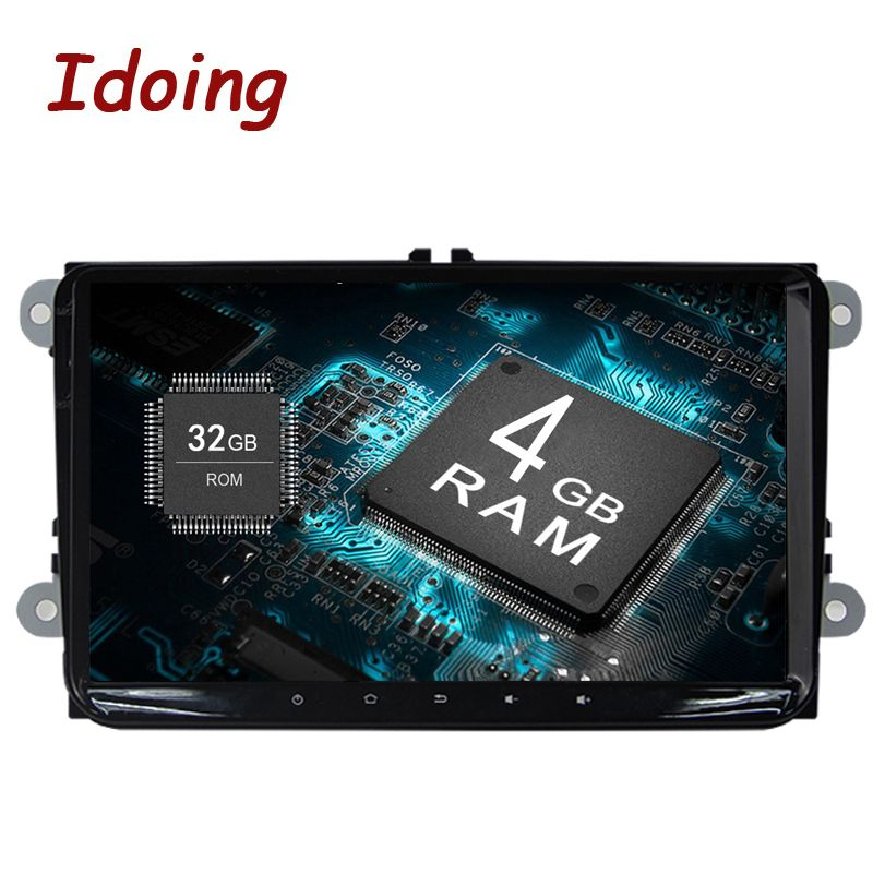 Idoing Android8.0 4G+32G 8Core 1Din Steering-Wheel For VW/Skoda/Seat Car Multimedia GPS Player Fast Boot TV 1080P HDP GPS+GLONAS