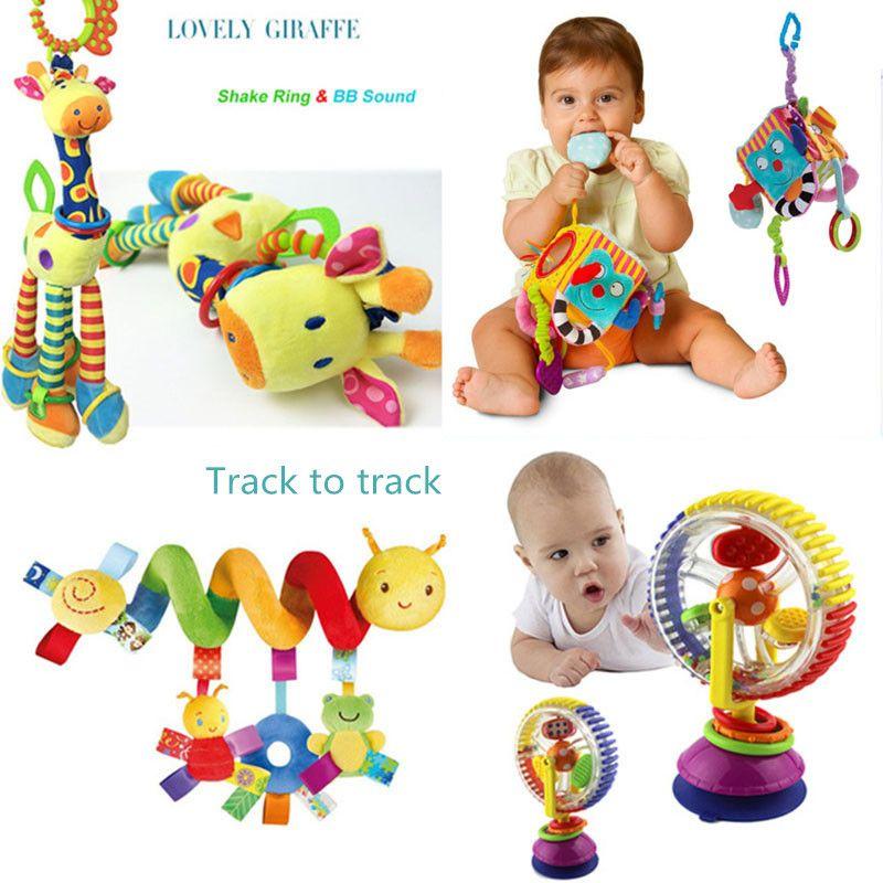 Doux bébé jouets 0-12 mois Musicical berceau lit poussette jouet spirale enfants jouets pour les nouveau-nés éducation jouets enfant en bas âge lit cloche hochets