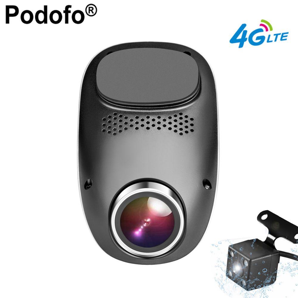 Podofo 4G Dash Camera Android GPS ADAS Registrator Dual lens Dash cam Full HD 1080P Mini Loop Recording Dashcam Car DVR Wifi