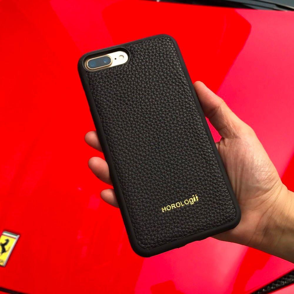 Marque de luxe Véritable de vache en cuir cas de téléphone portable pour l'iphone X 6 10 SE 7 plus cas couverture arrière Apple téléphone personnalisé nom service
