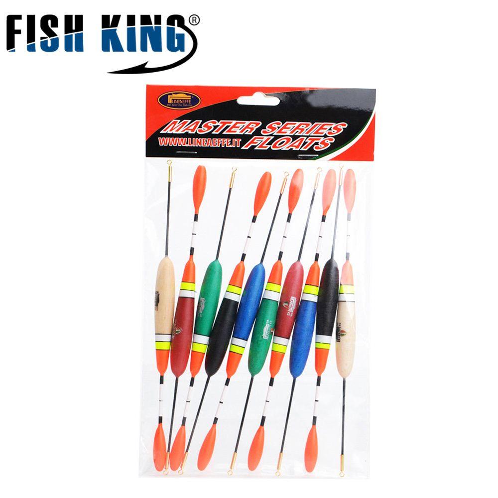 FISHKING 10 teile/los 4g/24 cm Fischen Schwimmen Master Serie Schwimmt Bobber Boje Schwimmer Rohr Karpfenangeln