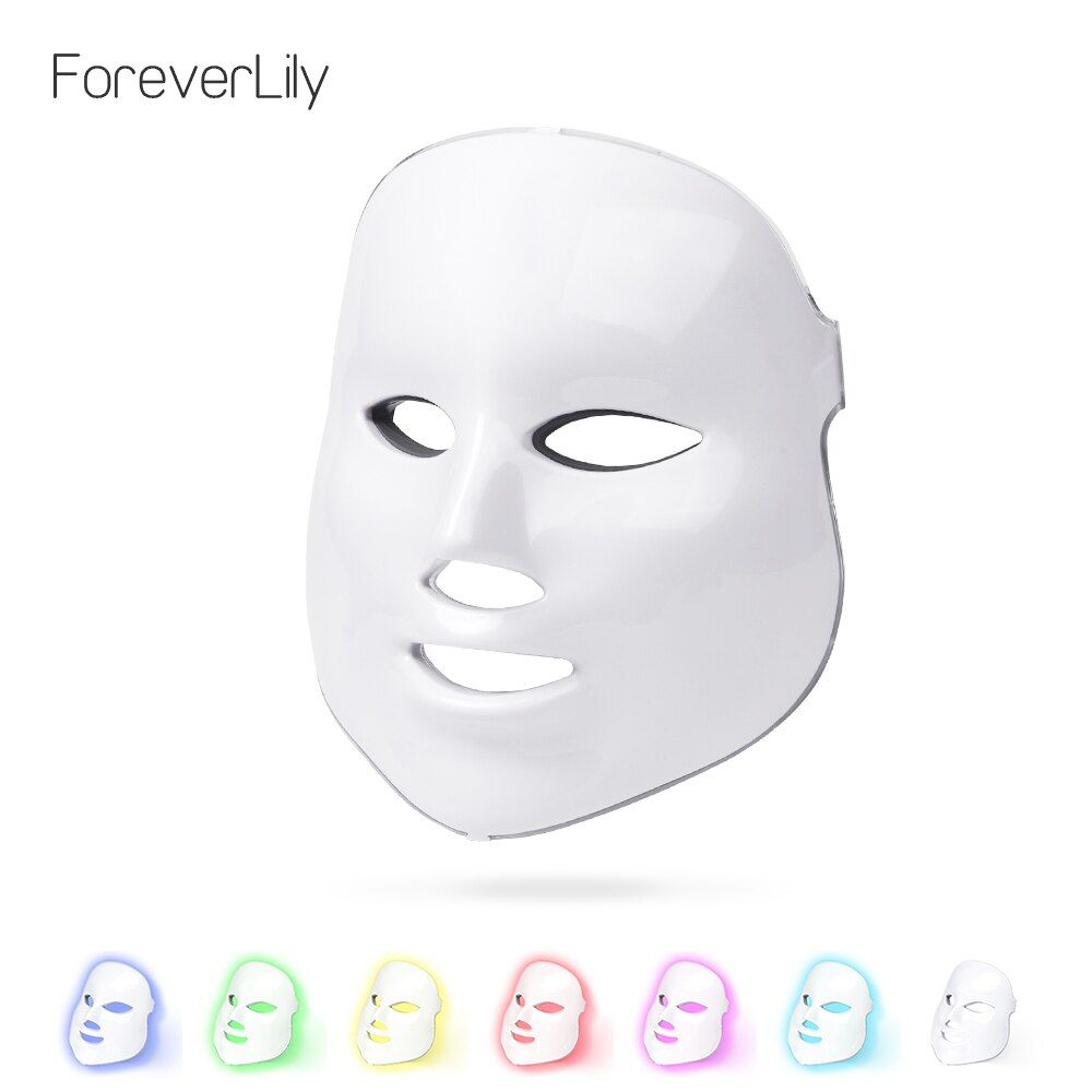 Foreverlily Led Therapy Mask Light Face Mask Therapy Photon Led Facial Mask Korean Skin <font><b>Care</b></font> Led Mask Therapy