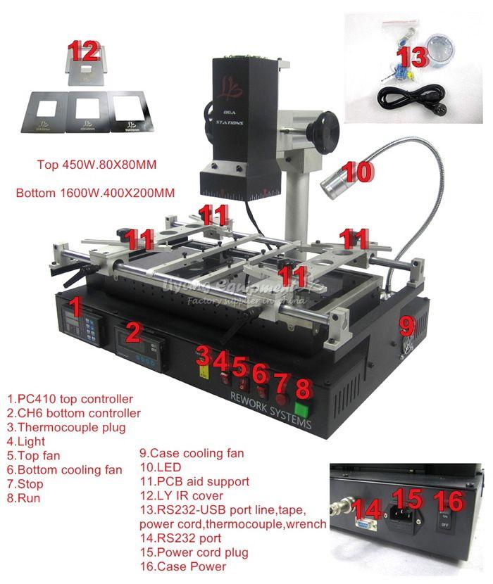 LY IR8500 infrarot BGA Überarbeitungsstation für laptop motherboard reparing, heizung größe IR8500 größere heizung größe IR6500