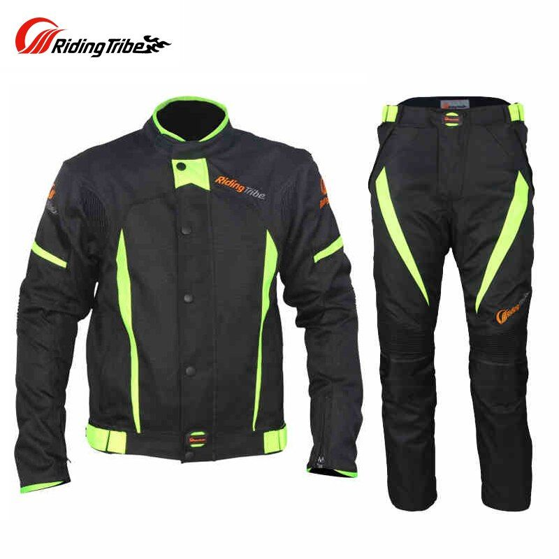 Riding Tribe Winter Summer Motorcycle Touring Racing Clothing Set Men Windproof Waterproof Thermal Warm Riding Jacket Pants Suit
